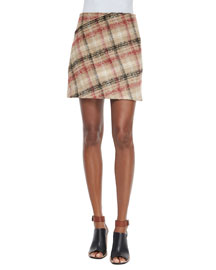 Plaid A-Line Skirt, Multi Colors