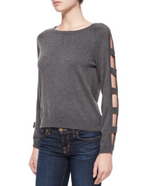 Open Bar Long-Sleeve Pullover