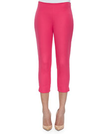 Juliette Slim Cropped Pants, Redberry