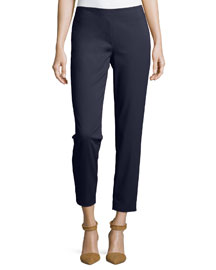Slim Stretch-Twill Ankle Pants