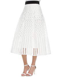 Geometric Ball Skirt, White