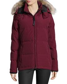 Chelsea Fur-Hood Parka Coat