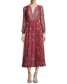 Minerala B Paisley-Print Dress