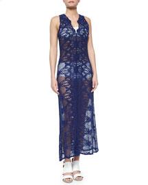 Eve Crochet Coverup Maxi Dress