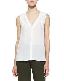 Doria V-Neck Sleeveless Top