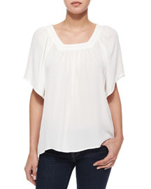 Amba Solid Silk Top