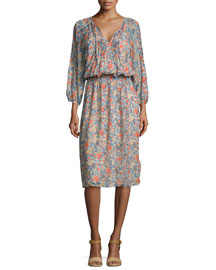 Pasclina Multi-Floral Printed Dress