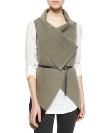 Ligiere Wool Colorblock Belted Vest