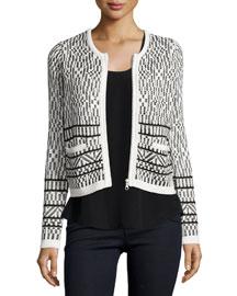 Jacolyn Tile Jacquard Tweed Jacket