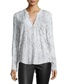 Anabella D Animal-Print Blouse