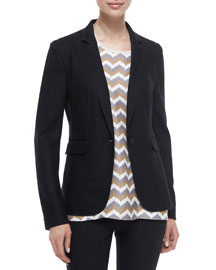 Long-Sleeve Wool Club Jacket