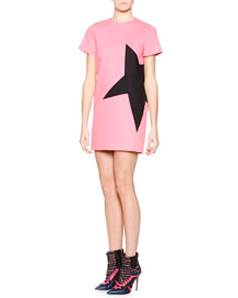 Side-Star Shift Dress