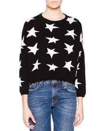 3/4-Sleeve Star Sweater