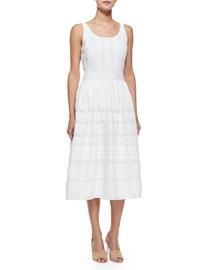 Myrtle Eyelet Midi Dress, White