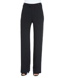 Stretch Wide-Leg Trousers