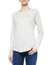 Space-Dye Crewneck Sweater