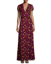 Adrienne Midnight Kiss Maxi Dress, Black/Multicolor