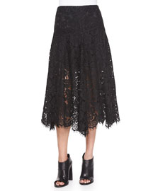 Warren Lace A-Line Skirt, Black