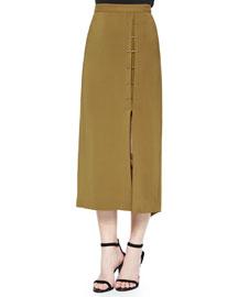 Dean Crepe A-Line Skirt, Ginger