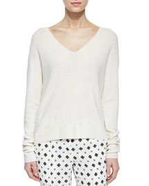 Rhodes Merino V-Neck Sweater, White