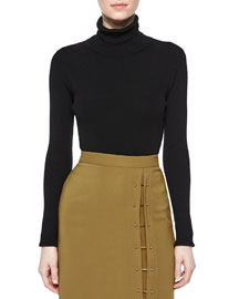 Milo Merino Turtleneck Sweater, Black