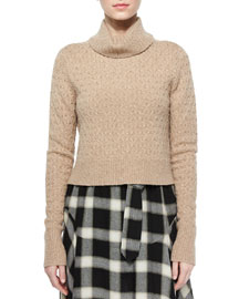 Jeannie Long-Sleeve Turtleneck Sweater