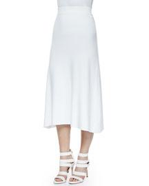Cook Stretch A-Line Midi Skirt, White