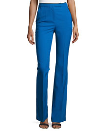 Lana Flared Wool Pants, Blue