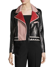 Multicolored Leather Jacket