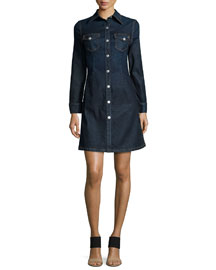 The Pixie Denim Shirtdress, Lonestar