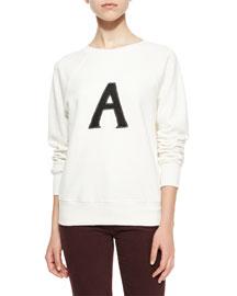 Scarlet Raglan Pullover Sweater, Vintage White