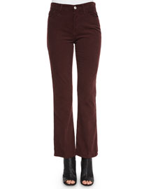 Revolution Boot-Cut Velvet Pants, Sulfur Fig