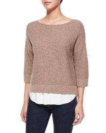 Symphorienne Twofer Shirttail Sweater