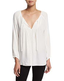 Lindrall Tie-Front Blouse