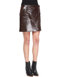 Berdin L. Polished Leather Skirt