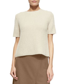 Edalina Wool-Blend Stitched Sweater