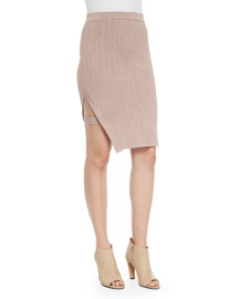 Sahara Rose Slit Pencil Skirt