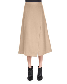 Anneal Stretch-Wool Wrap Skirt