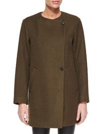 Venizka Camden Asymmetric Wool-Blend Twill Coat
