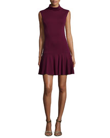 Glenn Drop-Skirt Knit Dress
