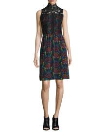Brea Victorian Printed Sleeveless Dress