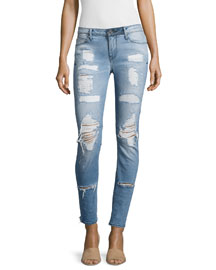 Icon Distressed Skinny Jeans, Whiplash