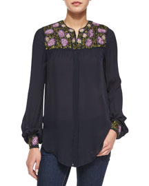 Embroidered Georgette Blouse
