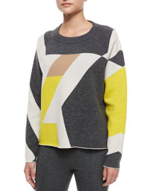 Hilary Geometric Pullover Sweater
