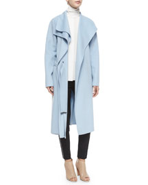 Double-Face Long Draped Coat