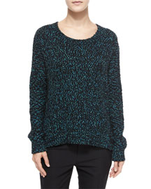 Long-Sleeve Boucle Sweater