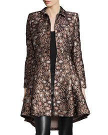 Veronika Shimmery Jacquard Princess Coat