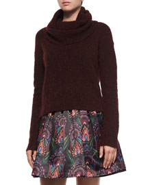 Gavin Cowl-Neck Pullover Sweater, Maroon