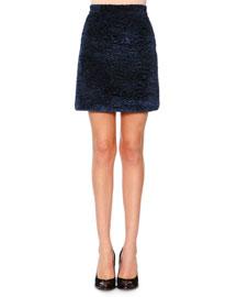 Faux-Fur A-line Skirt