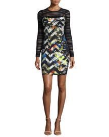 Blair Zigzag Long-Sleeve Dress